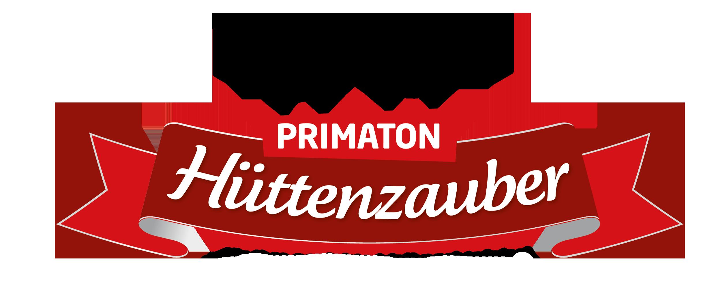 Primaton Hüttenzauber Logo 2 Elche rotes logo banner