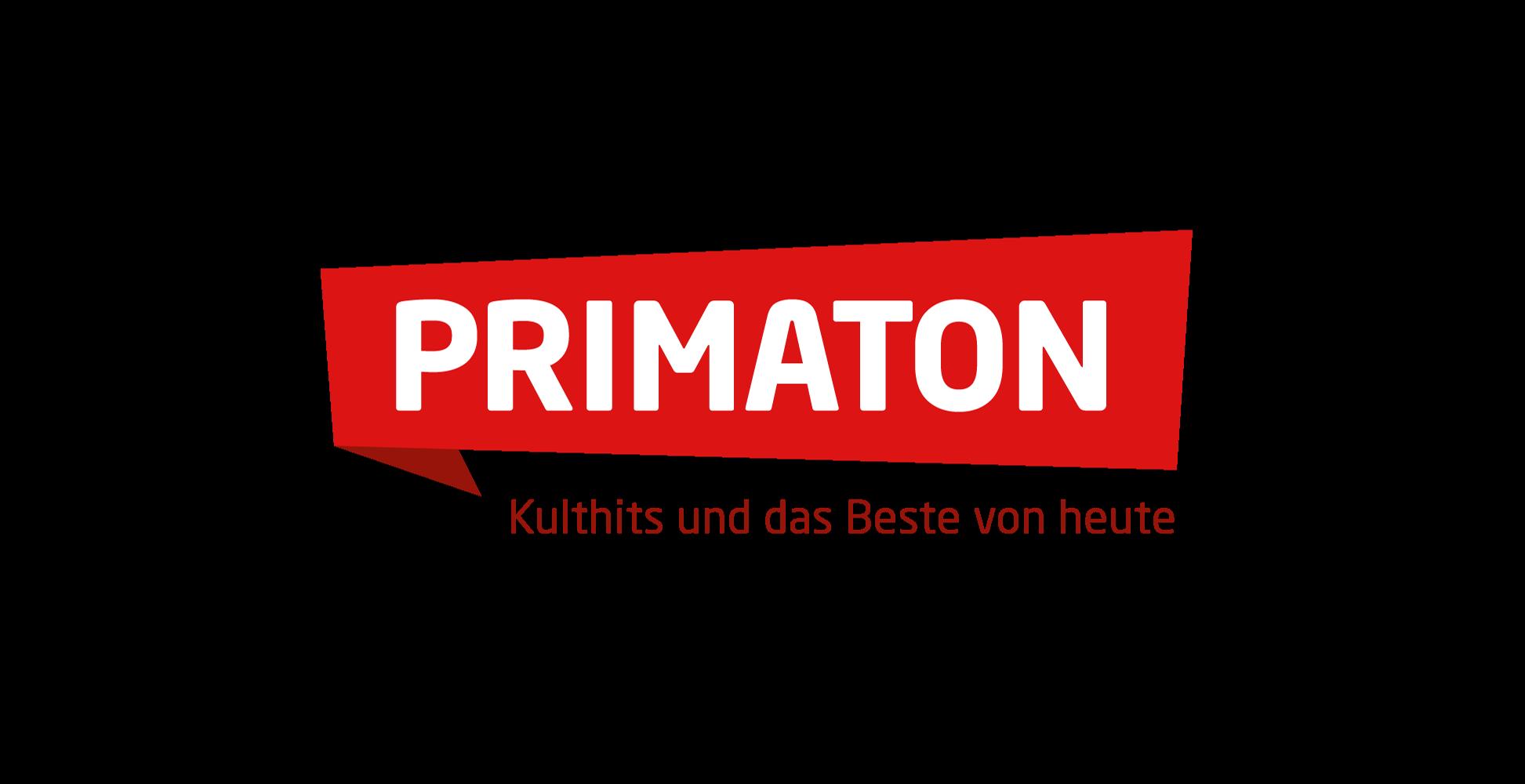 Radio-Primaton-Logo-rgb-positiv- Roter Hintergrund rote Schrift