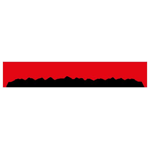 Regiomedien Unterfranken Logo transparent roter schriftzug und schwarzer schriftzug